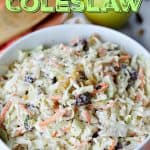 Coleslaw isn't just for picnics. This tasty Apple Raisin Coleslaw recipe is the perfect (and easy) side dish to serve any time of year.