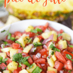 This Pineapple Pico de Gallo is the perfect way to add a sweet and zesty zip to your party. It's the perfect pico de gallo recipe to spice up your summer celebration. #picodegallo #pineapplesalsa #partyrecipe
