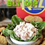 Football fans unite! Are you in it for the game, the food, or both? Kick off your football game day party or tailgate with this easy Game Day BLT Dip.