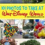 Ready for the ultimate Disney Photo Bucket List? I gathered some Disney photograph inspiration with these 101 Photos To Take At Walt Disney World. #WaltDisneyWorld #Disneyland #Disney #FaimilyTravel #Disneytravel #Disneyvacation #travelideas