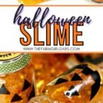 Add some spooky slimy fun to your Halloween party with these fun Halloween Slime Party Favors! This easy slime recipe is a fun Halloween craft for kids. Make a batch of Halloween slime for some ghoulish fun this fall. This is an easy liquid starch slime recipe!