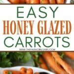 These Honey Glazed Carrots are a simple side dish to serve for any meal. They make a great holiday recipe for Thanksgiving or any family holiday. This easy side dish recipe is always present on my Thanksgiving and Christmas menu. Made with real butter and brown sugar, this carrot recipe is so good. It is a quick vegetable side dish that can be served all year long.