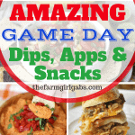 Score big and your Game Day party with a fantastic spread of these Amazing Dips, Apps, And Snacks! #GameDayRecipes #Dips #Appetizers #Snacks #Football #TailgateRecipes