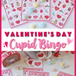 These free Valentine's Day Cupid Bingo cards are perfect for kids to play at home or classroom parties. Download and print yours today for some Valentine's Day fun! #ValentinesDay #Bingo