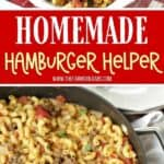 This one-pot Cheeseburger Skillet Casserole is a delicious version of Homemade Hamburger Helper we all loved as kids. It's an easy and delicious budget-friendly dinner idea. Your family will love this easy dinner recipe.