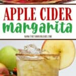 This refreshing Apple Cider Margarita is the perfect way to toast the fall season. This easy margarita recipe is a twist on the classic and full of apple flavor. Serve this refreshing fall cocktail while enjoying a nice fire. Your guests will love this fall apple recipe. It is also a perfect holiday cocktail to serve during the holiday season.