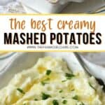 Mashed potatoes are the perfect side dish for meat or poultry. This easy recipe is creamy, buttery and oh so good. This mashed potatoes recipe is a great Thanksgiving side dish too. Super easy and even has a secret ingredient to make this potato recipe extra creamy. Your family will definitely want seconds. Try this easy potato recipe. It is an easy side dish recipe.