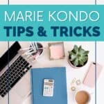 Have you tried the Marie Kondo method? Declutter your life with this free printable KonMari checklist. By following the KonMari method, you can organize your home and life. It's easy and will take you step by step through the entire Marie Kondo KonMari Organization process.