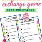 Hop into the Easter holiday with this fun Easter Egg Exchange Game that kids can play. Download and print a copy of these Easter cards. This is fun game for the kids to play after an Easter egg hunt.