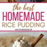 Don't be intimidated by making pudding from scratch! The Best Homemade Rice Pudding is a classic recipe that definitely calls for a dollop of whipped cream.