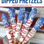 How about a fun patriotic recipe everyone will enjoy? These red, white and blue Stars And Stripes Dipped Pretzels will be a hit at your next patriotic celebration.