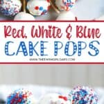 Planning a 4th of July Party or patriotic celebration. These Red White And Blue Cake Pops are a fun summer dessert recipe to make for the party. This Cake Pop recipe is a great July 4th recipe the is easy and delicious.