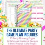 Plan the perfect party. This Ultimate Party Celebration Planner has all the planning pages needed to organize a successful party celebration from start to finish. This 50-page digital planner includes 25 planning pages and spreadsheets plus 15 delicious cupcake recipes. Track your party budget, guest list, party menu and more with this helpful digital party planner. Stay on budget, on task so you can plan your ultimate party. Download your copy today and create a party planning binder.