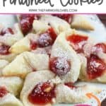 These flaky Cherry Cream Cheese Pinwheel Cookies are a twist on the traditional Hungarian Kolaches Christmas Cookie recipe.