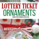 Gift the gift of lottery luck this holiday season with these fun New Jersey Lottery Ticket Christmas Ornaments. These DIY Christmas ornaments are easy to make. Grab some lottery tickets and fill a plastic ornament.