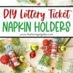 Share some lottery luck with your dinner guests this holiday season. These easy NJ Lottery Ticket DIY Christmas Napkin holders are a fun way to decorate your holiday dinner table.