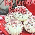 Are you a fan of minty hot chocolate? Pour some hot milk over these White Chocolate Peppermint Mocha Hot Cocoa Bombs for a fun surprise inside.