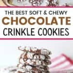 Soft and Chewy Chocolate Crinkle Cookies are a family favorite Christmas cookies. These moist brownie-like cookies aren't just for Christmas though. You can enjoy this cookie's chocolaty goodness all year long.