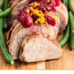 Slow Cooker Pork Tenderloin With Cranberries & Orange is a delicious fix it and forget it holiday Crock Pot recipe. It's an easy Christmas dinner recipe. Try this Crock Pot Pork recipe in the fall or winter months when cranberries are in season.