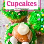 Hippity Hoppity, these Easy Bunny Butt Cupcakes are the perfect Easter dessert. This cute Easter Cupcake recipe is easy to decorate and fun to eat. This homemade cupcake recipe is perfect for Easter. Make these adorable Easter cupcakes that use a doughnut hole as the bunny's bottom. The kids will have a blast helping with these Easter Cupcakes!