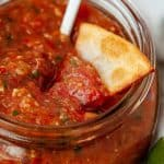 Spice things up with the easy roasted tomato and tomatillo salsa recipe. This easy salsa recipe is full of roasted tomatoes and tomatillos. If you need a side for Mexican night or a dip recipe, try this roasted tomato salsa recipe.