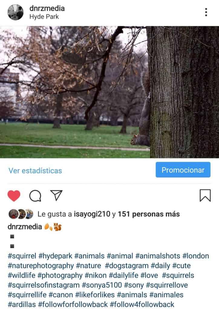 Ocultar Hashtags en Instagram
