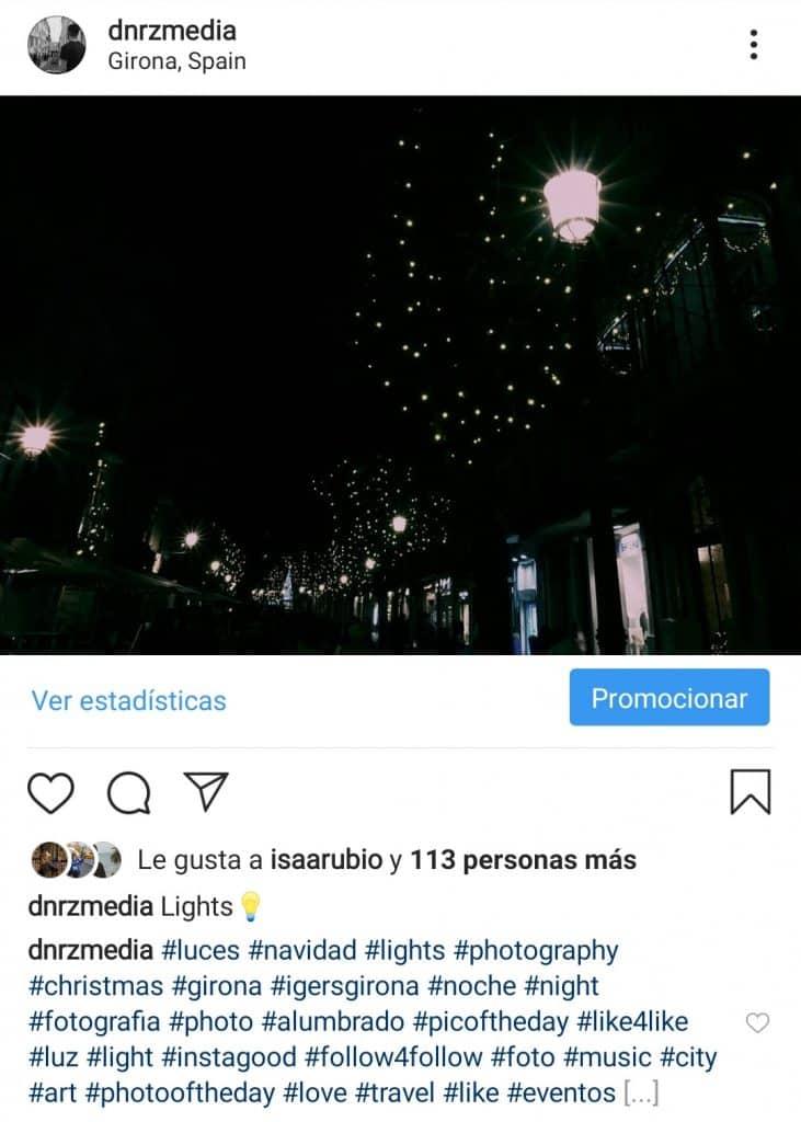 Ocultar Hashtags en Comentarios de Instagram