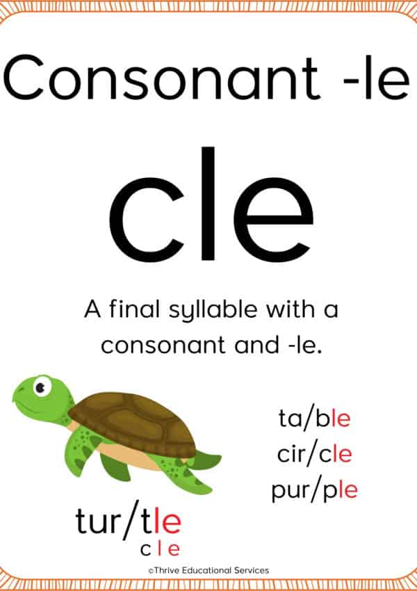 How To Teach The Consonant -le Syllable