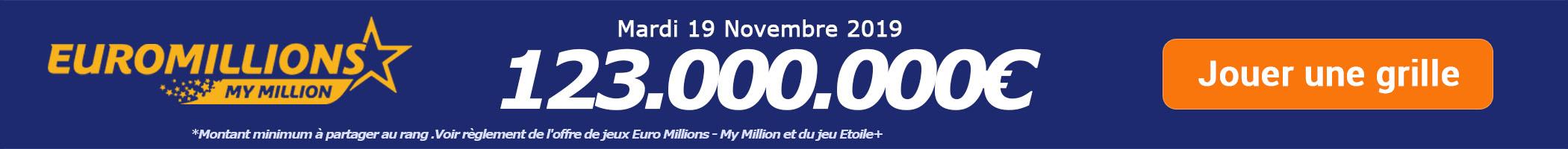 Jouer pour le super tirage Euromillions de 114.000.000€ ce vendredi 15 novembre !