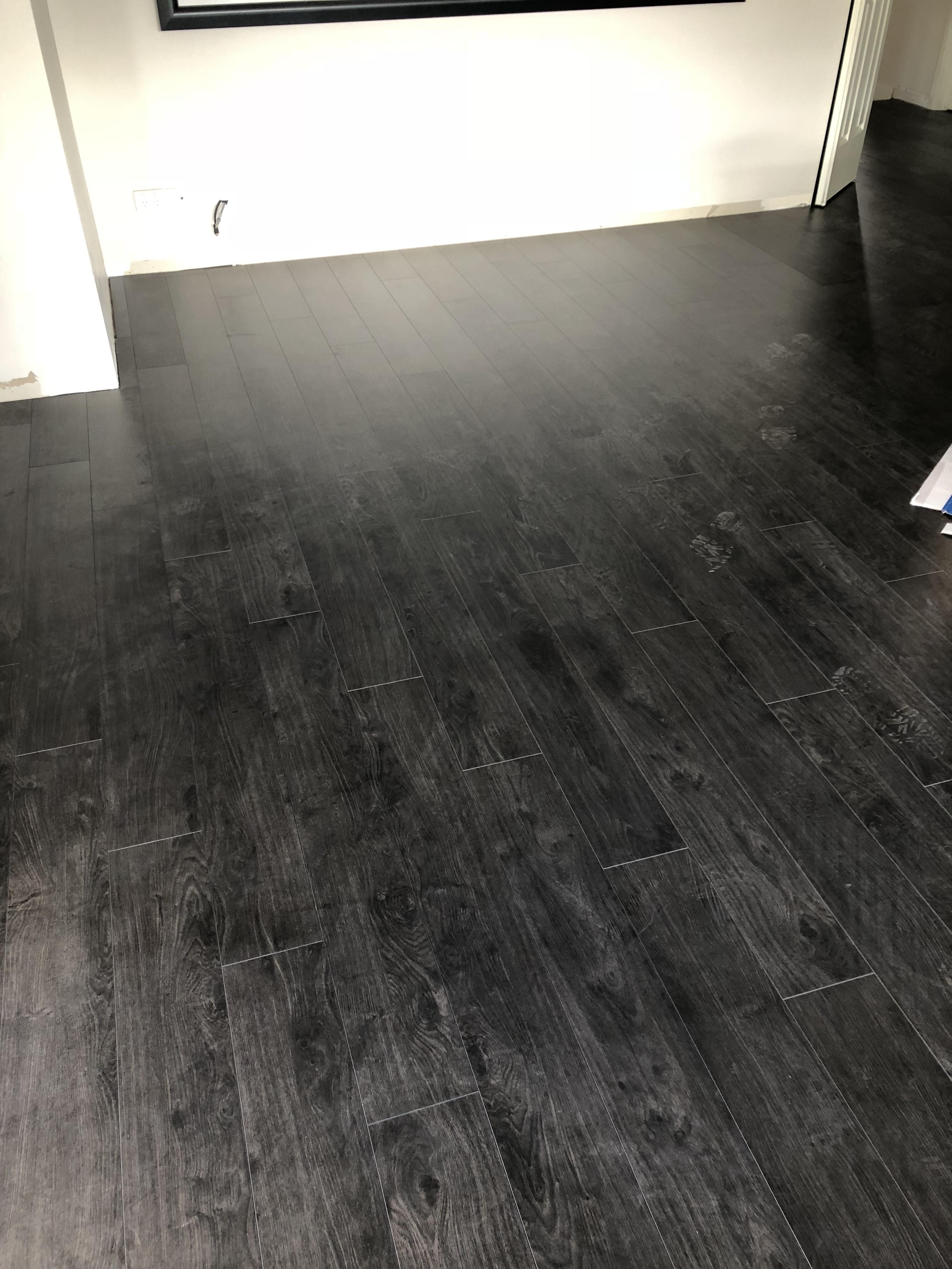 Black Laminate Flooring 1215x195x12mm