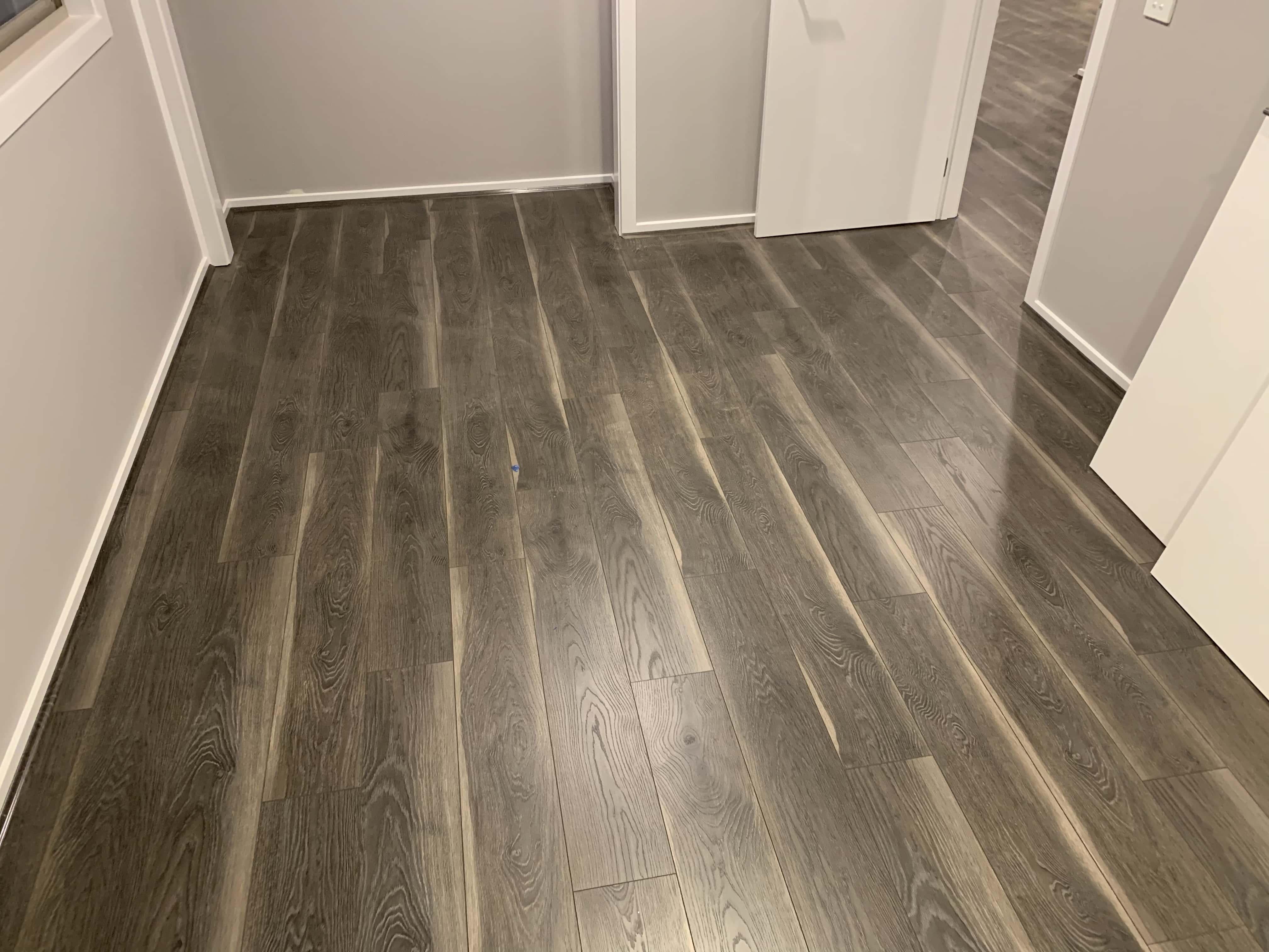 Dark Laminate Flooring 1215x195x12mm