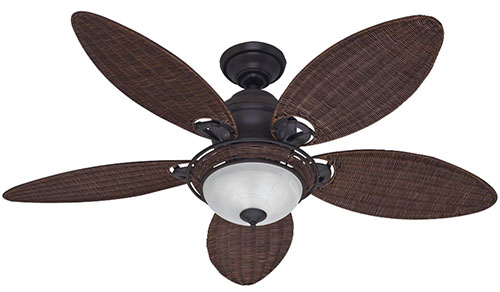 5. Hunter Caribbean Breeze 54-Inch Ceiling Fan