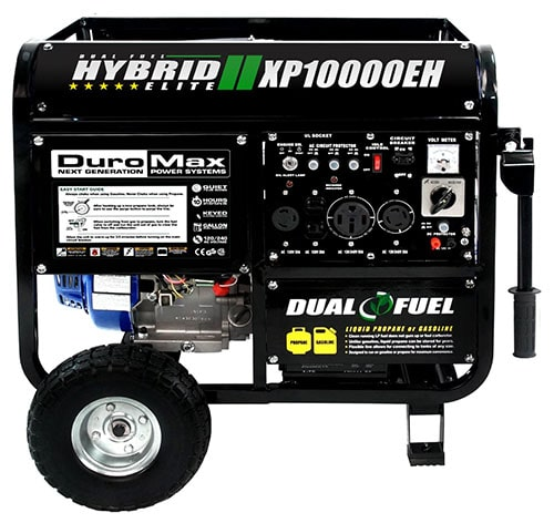 4. DuroMax Dual Fuel Powered Portable Generator