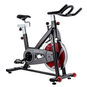6.Sunny Health & Fitness Indoor Cycle Trainer – 49 lb. Flywheel
