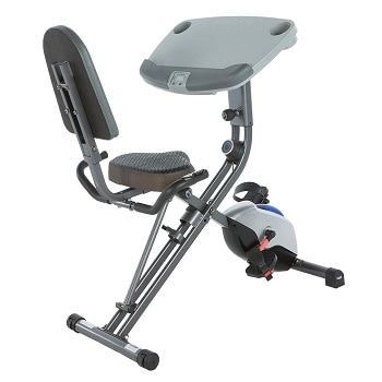 5.Exerpeutic WORKFIT 1000 Desk Station Folding Semi-Recumbent Exercise Bike