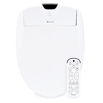 7. Brondell Swash 1400 Luxury Bidet Toilet Seat with Dual Stainless-Steel Nozzles and Nanotechnology Nozzle Sterilization