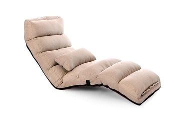 9. Porpora Relaxing Futon and Lounge Sofa: