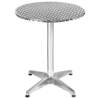 5. Giantex Aluminum Stainless Steel Adjustable Rounded Patio bar Table