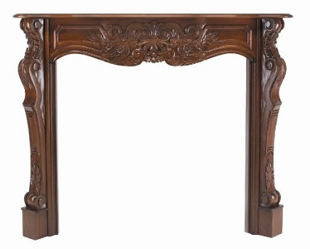 1. Pearl Mantels 134-48-30 Fireplace Mantel.