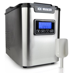5.Upgraded Nutri Chef Portable Digital Ice maker Machine.