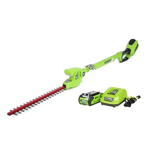 5. Greenworks 20-Inch 40V Cordless Pole Hedge Trimmer