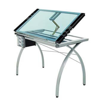6. Offex Craft Station Glass, Silver/Blue