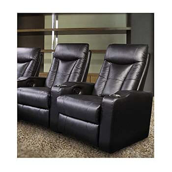 7. Pavillion Theater Seating - 2 Black Leather Chairs