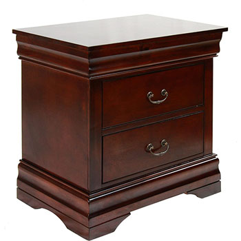 7. Furniture of America Summerville 2-Drawer Nightstand