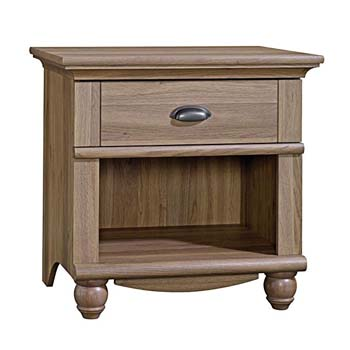 5. Sauder Harbor View Night Stand Salt Oak w/ One Drawer