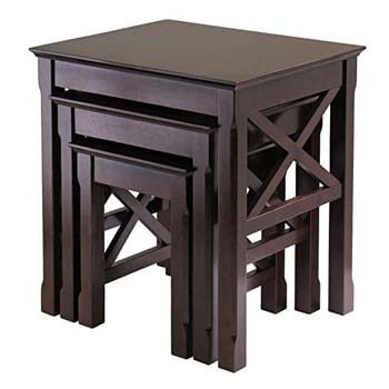 5. Winsome Wood Xola 3-pc Nesting Table