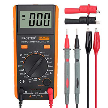 6. Proster LCR Meter LCD Capacitance Inductance Resistance Tester