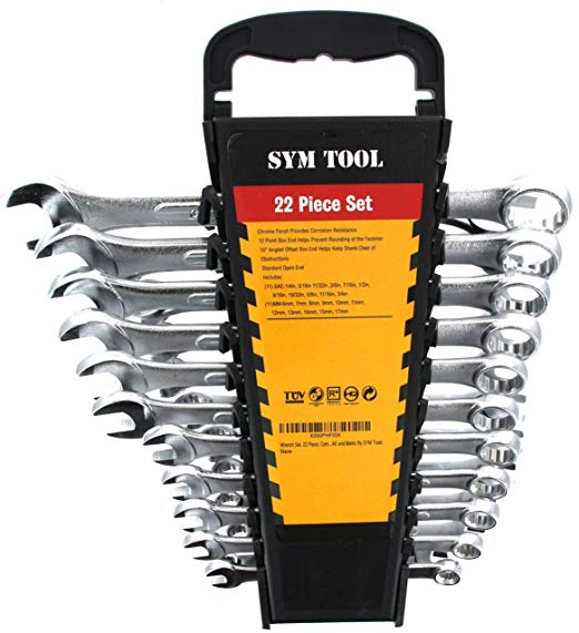 3. Wrench Set, 22 Piece, Combo Set SAE and Metric