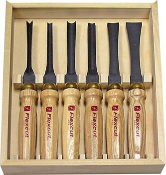 10. Flexcut Carving Tools, Mallet-Carving Chisels and Gouges for Woodworking, Starter Set of 6 (MC150)