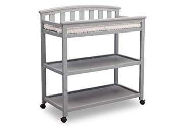 6. Delta Children Arch Top Changing Table with Casters